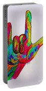 American Sign Language I Love You Portable Battery Charger