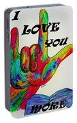 American Sign Language I Love You More Portable Battery Charger