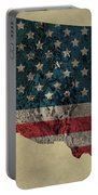 American West Topography Map Portable Battery Charger
