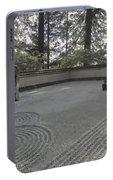 American Zen Rock And Raked Gravel Garden - Portland Oregon Portable Battery Charger
