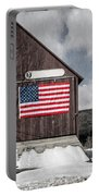 Americana Patriotic Barn Portable Battery Charger by Edward Fielding