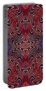 Americana Swirl Banner 3 Portable Battery Charger by Sarah Loft