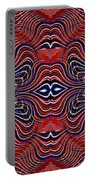 Americana Swirl Banner 4 Portable Battery Charger by Sarah Loft