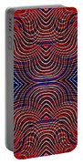 Americana Swirl Design 10 Portable Battery Charger