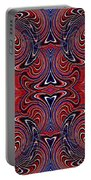 Americana Swirl Design 3 Portable Battery Charger
