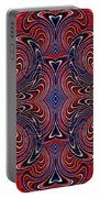 Americana Swirl Design 4 Portable Battery Charger by Sarah Loft