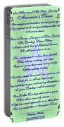 America's Team Poetry Art Poster Portable Battery Charger by Stanley Mathis