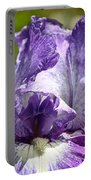 Amethyst Iris Portable Battery Charger