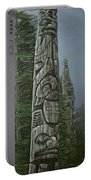 Amid The Mist - Totems Portable Battery Charger by Elaine Booth-Kallweit