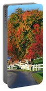 Amish Barn In Autumn Portable Battery Charger