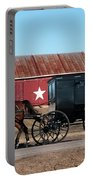 Amish Buggy And Star Barn Portable Battery Charger