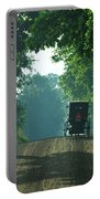 Amish  Buggy Gravel Road Portable Battery Charger