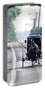 Amish Buggy In Lancaster County Pa. Portable Battery Charger