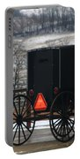 Amish Buggy In Winter Portable Battery Charger