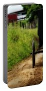 Amish Buggy On Dirt Road Portable Battery Charger