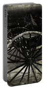 Amish Cart Wheels Grunge Portable Battery Charger