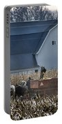 Amish Corn Picking And 1919 Barn Portable Battery Charger