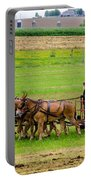 Amish Farmer Portable Battery Charger by Guy Whiteley
