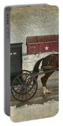Amish Horse And Buggy And The Star Barn Portable Battery Charger