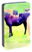 A Horse Most Of All Wanna Be One Among The Other Horses Portable Battery Charger