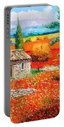 Among The Poppies Portable Battery Charger
