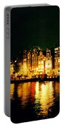 Amsterdam At Night Three Portable Battery Charger by John Malone