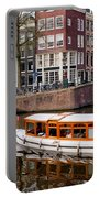 Amsterdam Canal And Houses Portable Battery Charger
