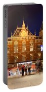 Amsterdam Central Station And Metro Entrance Portable Battery Charger