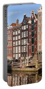 Amsterdam Houses Ar Sunset Portable Battery Charger