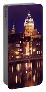 Amsterdam In The Netherlands By Night Portable Battery Charger