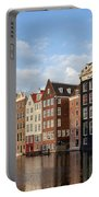 Amsterdam Old Town At Sunset Portable Battery Charger
