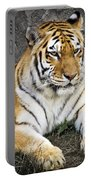 Amur Tiger Portable Battery Charger by Adam Romanowicz