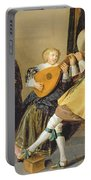 An Elegant Company Playing Music In An Portable Battery Charger by Dirck Hals