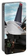 An Fa-18f Super Hornet Sits Portable Battery Charger by Stocktrek Images
