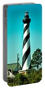 An Image Of Lighthouse In Small Town Portable Battery Charger