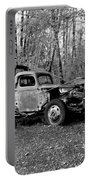An Old Logging Boom Truck In Black And White Portable Battery Charger