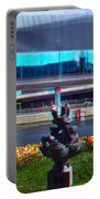 Anaglyph Modern Sculpture Portable Battery Charger