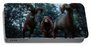 Anaglyph Wild Animals Portable Battery Charger