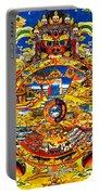 Ancient Tibetan Tangka Wheel Of Life Portable Battery Charger