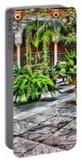 Andalusian Courtyard In Sevilla Spain Portable Battery Charger