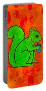 Andy's Squirrel Green Portable Battery Charger