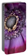 Anemone Coronaria  Macro Portable Battery Charger
