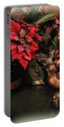 Angel And Poinsettia Portable Battery Charger