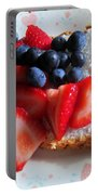 Angel Food And The Berries Portable Battery Charger