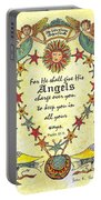 Angel Fraktur Painting Portable Battery Charger