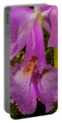Angel Orchid Gold Leaf Portable Battery Charger