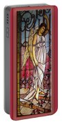 Angel Stained Glass Window Portable Battery Charger by Thomas Woolworth