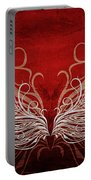 Angel Wings Crimson Portable Battery Charger