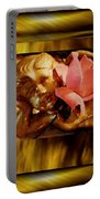 Angel With Floral On Clouds Portable Battery Charger
