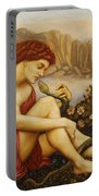 Angel With Serpent Portable Battery Charger by Evelyn De Morgan